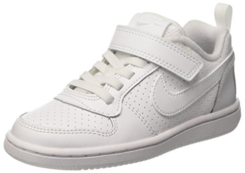 Nike Jungen Court Borough Low (PSV) Basketballschuhe, Weiß White 100, 27.5 EU