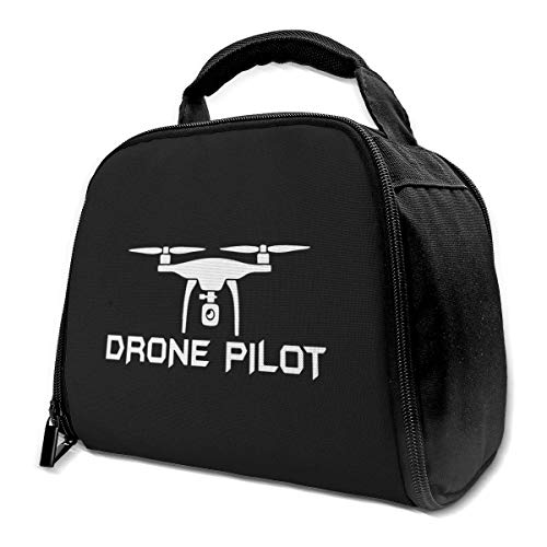 N/A Drone Pilot Lunch Bag -Geïsoleerde Herbruikbare Lunch Box - Duurzame Lunch Container Cooler Tote Bag Voor Vrouwen & Heren & Kid Office Werk School Picnic Wandelen