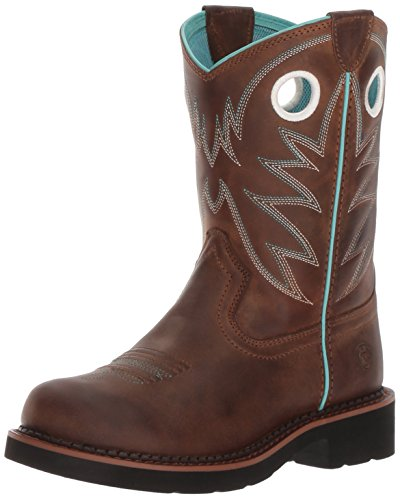 ARIAT girls Probaby Western Boot, Distressed Brown, 4 Big Kid US