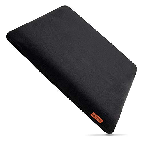 DYNMC you Comfortable Chair Cushion Black - Office Chair Seat Cushion 40 x 40 - Indoor & Outdoor Seat Pad - Chair Cushion & Seat Cover for Chairs in Home and Garden