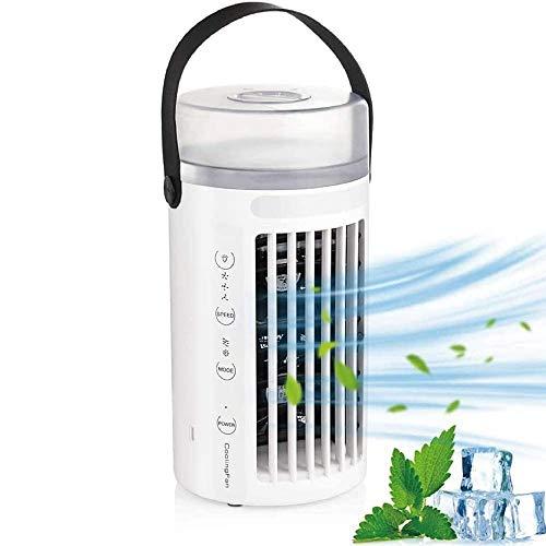 TKLake Tragbarer Lüfter der Klimaanlage, Mobiles 4 in 1 Klimagerät, Luftkühler, Ventilator und Luftbefeuchter mit 3 Geschwindigkeiten, auslaufsicher, Nachtlicht Perfekt für Schlafzimmer, Büro