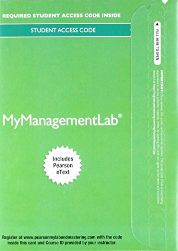 2017 MyLab Management with Pearson eText -- Access Card -- for Modern Management: Concepts and Skills (Mymanagementlab)
