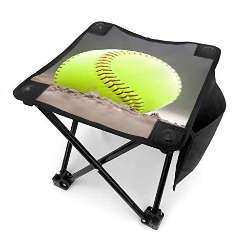 Nicokee Campinghocker, zusammenklappbar, Gelb, Softball, Tennisball, tragbarer Stuhl mit Tragetasche für Outdoor-Angeln, Sport, Wandern, Garten, Picknick, Strand, Grillen