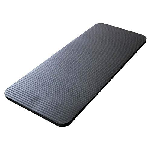 Gesh Esterilla de yoga de 15 mm de grosor, cómoda de espuma para rodillas, coderas, para ejercicio, yoga, pilates, interiores, entrenamiento, color negro