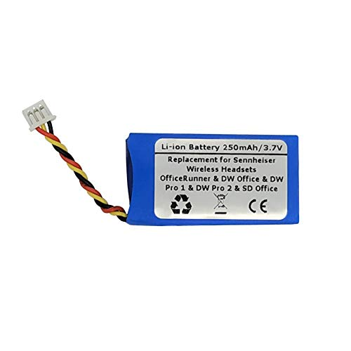 Replacement Battery for Sennheiser Wireless Headsets - OfficeRunner DW Office DW Pro1 DW Pro2 SD Office SD Pro1 SD Pro2 MB Pro Series