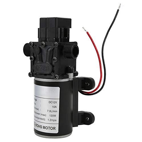 EVTSCAN última bomba de presión de agua, bomba de diafragma inteligente de alta presión FL3216 DC12V 120W 7L/min 10mm salida de agua derecha