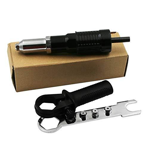 SAXTEL Pistola Remachadora inalámbrica, Adaptador de Taladro eléctrico Inserte el Kit de...