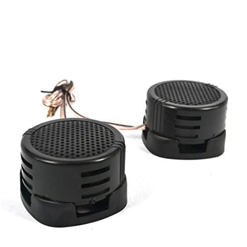 XiY Universal De Coches Mini Tweeter De Cúpula De Alta Eficiencia Portátil 2X500w Altavoz Negro Altavoz Super Potencia De Sonido De Audio,Negro