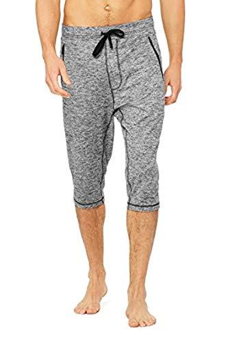 Alo Yoga Men's Balance Capri Pant, Graphite Marl, M