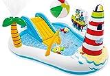 Bavaria Home Style Collection, piscina gonfiabile con scivolo a forma di faro, giocattolo per bambini, con scivolo e spruzzatore per acqua, misura XL, a partire dai 3 anni