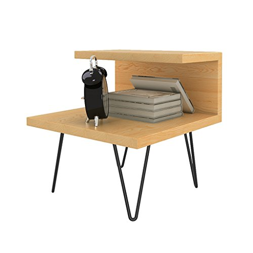 LiuJF Tables/Chair tafel van massief hout van smeedijzer, dubbele opbergruimte, kleine kledingkast, nachtkastje, boektafel, salontafel, 5 kleuren 50 * 50 * 50CM Oro rosa + oro rosa