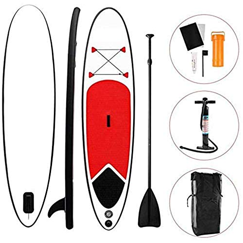 ZLZNX Hydro-Force Inflatable SUP Stand Up Paddle Board with Paddle, Carry Bag and Pump for Adults and Youth for Paddling