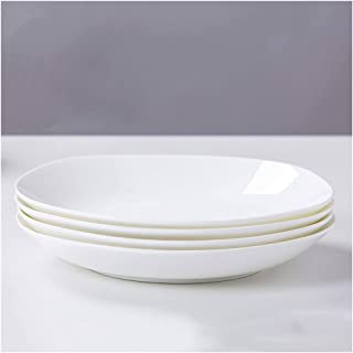 Dinner Plates طقم طبقات عشاء من السيراميك من 4 أطباق طقم لسلال باستا لوحات الحلوى والفندقية لصناعة الصحون (5.5 بوصة، 6.5 ب...