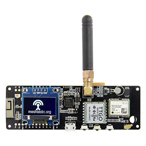 LILYGO TTGO Meshtastic T-Beam V1.1 ESP32 433/915/923 MHz Módulo WiFi Bluetooth ESP32 GPS NEO-6M SMA con OLED