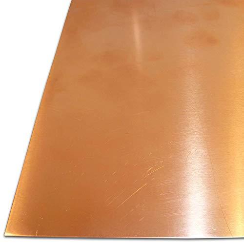 B&T Metall Kupferblech 1,0 mm stark Qualität nach DIN EN 1172 CUI-DHP-CW024A R240 halbhart (SF-Cu) bis Größe 200 x 300 mm (20 x 30 cm)