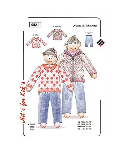 Olympia Creativ-Schnittmuster Shirt & Hoody & Leggins Größe 68-74 (0821)