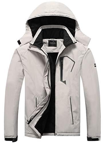 WULFUL Mens Waterproof Ski Jacket Warm Winter Snow Coat Mountain Windbreaker Hooded Raincoat