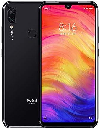 Xiaomi Redmi Note 7 Smartphones de 6.3'' Pantalla Completa, 4GB RAM + 64GB ROM, Snapdragon 660 procesador Octa-Core, 13MP Delantero y 48MP + 5MP Doble cámara Trasera Teléfonos móviles (Negro)