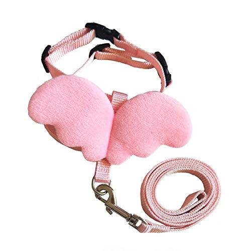 Lovelysunshiny Lindo Angel Wing Pet Dog leashes collane per Piccolo Imbracatura di Cane Regolabile per Animali Domestici Rosa