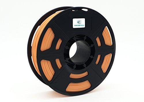 Kaisertech Filament für 3D Drucker 1kg PLA 1,75mm Hautfarbe/Skin - Premium Qualität Spule Rolle