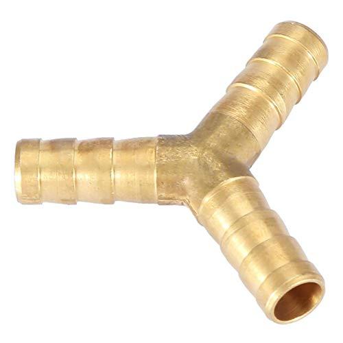 Conector de púas para manguera, conector de unión, divisores de aire, agua, gas, latón, adaptador de 3 vías, 1 paquete(8mm(4pcs))