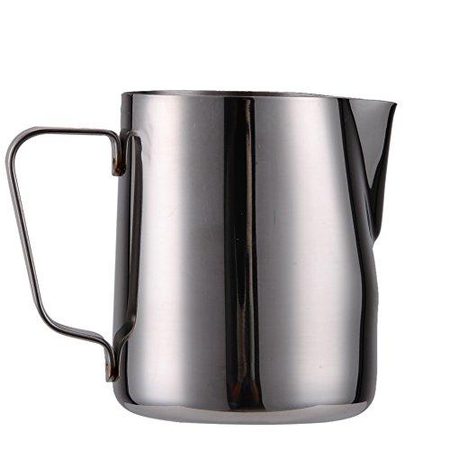 Pichet à mousse de lait en acier inoxydable pour barista cappuccino expresso café latte art (300 ml)