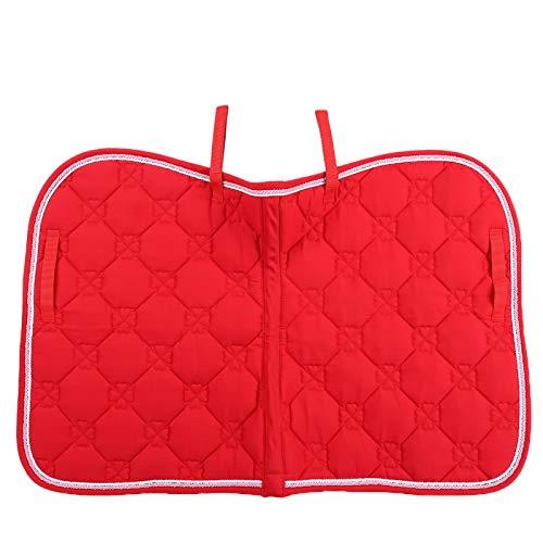 Jazar Mantilla de Caballo de Doble Cuerda, Almohadilla de Silla de Caballo de algodón Suave, Resistente y Ligero para hipódromo(Red)
