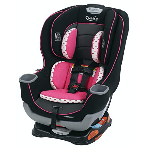 Graco Extend2Fit Convertible Car Seat, Ride Rear Facing Longer with Extend2Fit, Kenzie