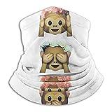 See No Evil Monkey Emoji Hipster Flower Crown Tumblr Unisex Face Cover Bandanas Headwear Neck Gaiter Headwrap Balaclava