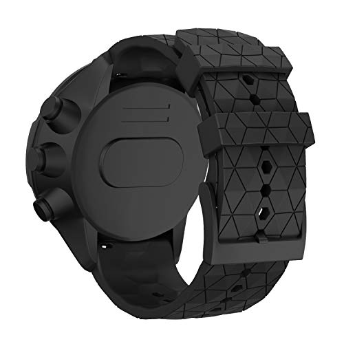 WIIKAI Compatible con SUUNTO 9 Baro/SUUNTO 9 Correas para Relojes, Correa de Pulsera de Reemplazo(Negro).