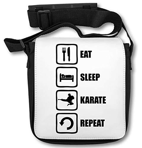 Eat Sleep Karate Repeat Martial Arts Graphic Schultertasche