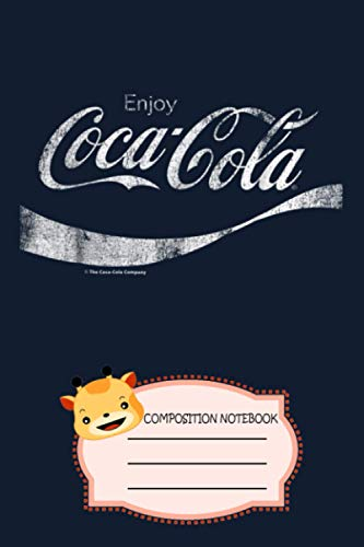 Coca-cola Vintage White Enjoy Logo Graphic GZ Notebook: 120 Wide Lined Pages...