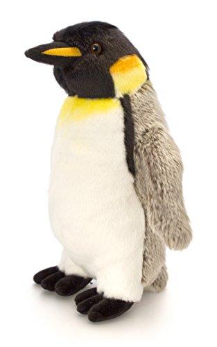 Lashuma Plüschtier Pinguin Grau - Weiß, Keel Toys Kuscheltier Kaiser Plüschpinguin 30 cm
