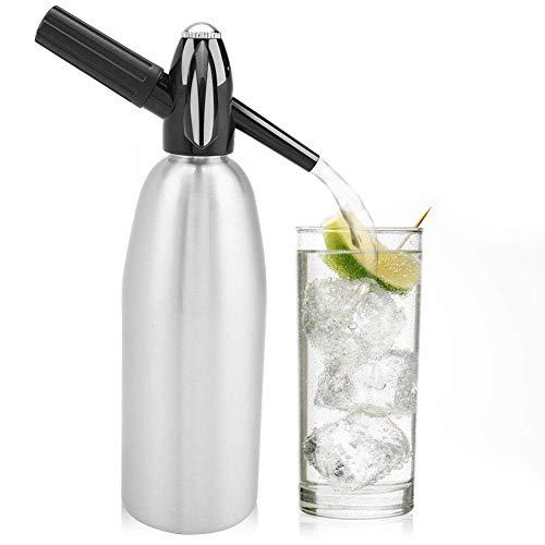 YJTGZ Distributeur Manuel de Siphon de Soda 1L générateur de Bulles d'eau Boisson fraîche Cocktail Machines à Soda Barre en Aluminium Bricolage Fabricant de Soda