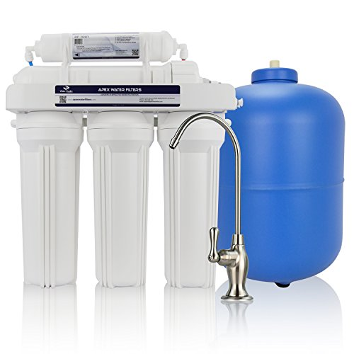 Apex MR-5050 5-Stage Reverse Osmosis Water Filtration System -...
