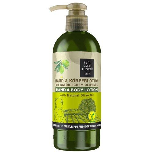 Natürliches Olivenöl/Vegan, Hand- und Körperlotion 250 ml PET-Flasche