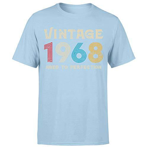 Camiseta clásica vintage de 1968 añejo a la perfección, regalo de 53 cumpleaños para hombre