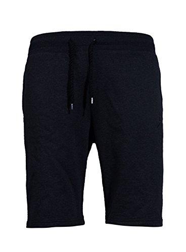 Akito Tanaka Herren Sweatshorts AKENO Kurze Hose Basic Schwarz XL
