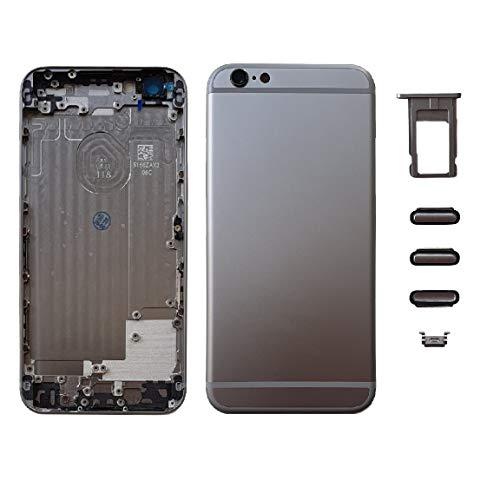 Smartex Scocca Posteriore in Vetro + Telaio Compatibile con iPhone 6 | Back Cover + Frame (Grigio siderale - Sideral Grey)