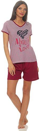 Good Deal Market Korte dames-pyjama zomerse pyjama in verschillende modellen • luchtige lichte katoen • trends 2018 • maat 36/38 tot 48/50