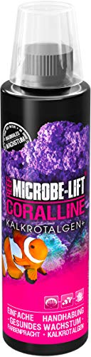 MICROBE-LIFT Coralline – beschleunigt das Wachstum von Kalkrotlagen im Aquarium, hochkonzentriert und ergiebig, 236ml