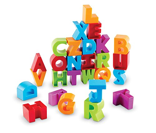 Learning Resources Letter Blocks Fine Motor Toy ABCs Letter Recognition Alphabet 36 Pieces Ages 18 mos