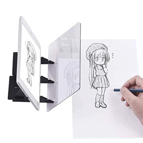 Tablero óptico de rastreo portátil, para dibujar, para rastrear, artes y manualidades, pintura, anime, dibujo fácil, herramienta de plantilla basada en juguete