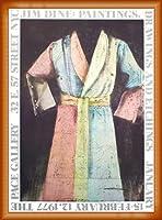 ポスター ジム ダイン Pace Gallery 1977 額装品 ウッドベーシックフレーム(オレンジ)