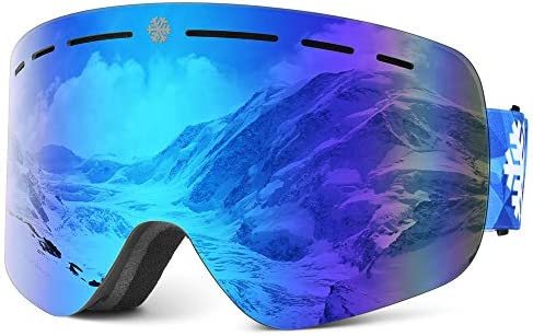 Ski Goggles Snowboard Ski Goggles Skiing Goggles with Anti Fog Anti Glare Wind Resistance for product image