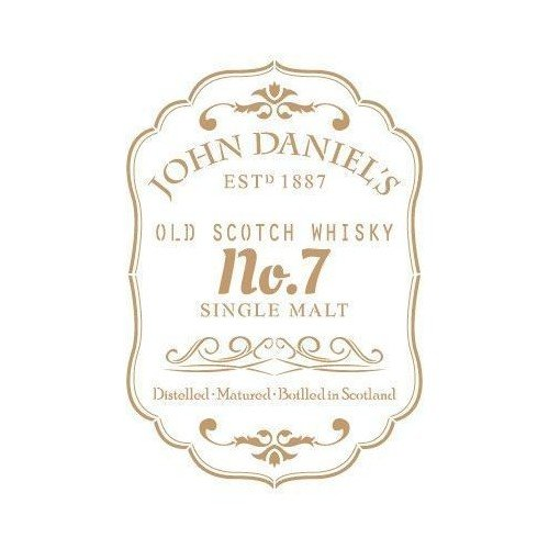 TODO STENCIL Deco Composición 205 Etiqueta John Daniels, Medidas: Stencil 20 x 30 cm - Diseño 17,8 x 25,8 cm
