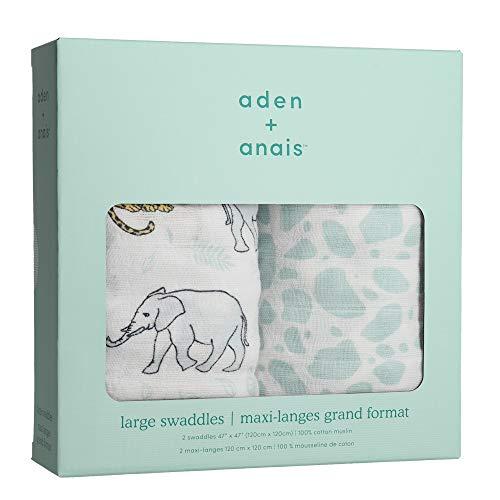 エイデンアンドアネイ おくるみ 2セット Aden+Anais swaddling wrap(color: jungle) [並行輸入品]