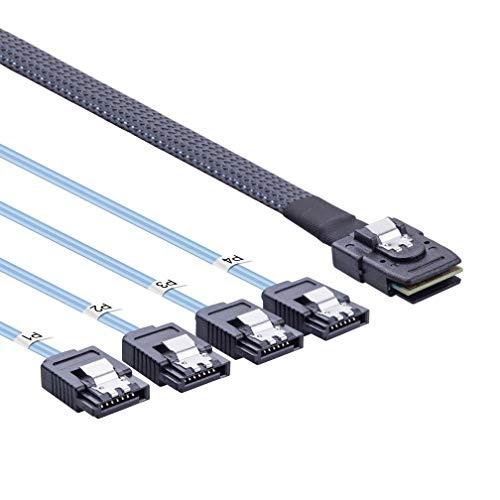 6Gbps External HD Mini SAS SFF-8644 to Mini SAS SFF-8088 Cable 3.3ft AWG30 1-Meter