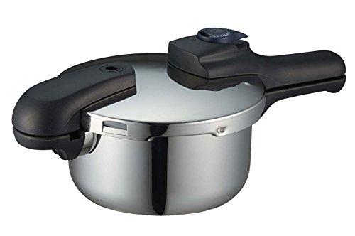 パール金属圧力鍋2.5LIH対応3層底切り替え式レシピ付クイックエコH-5039