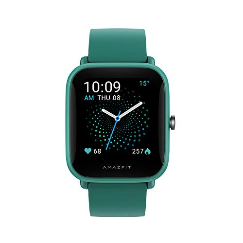 Amazfit Bip U Pro NYSE Listed Smart Watch with SpO2, Built-in GPS, Built-in Alexa, Electronic Compass, 60+ Sports Modes, 5ATM, Fitness Tracker, HR, Sleep, Stress Monitor, 1.43' Color Display (Green)